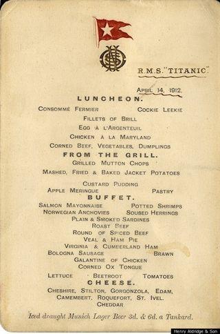Titanic-Food
